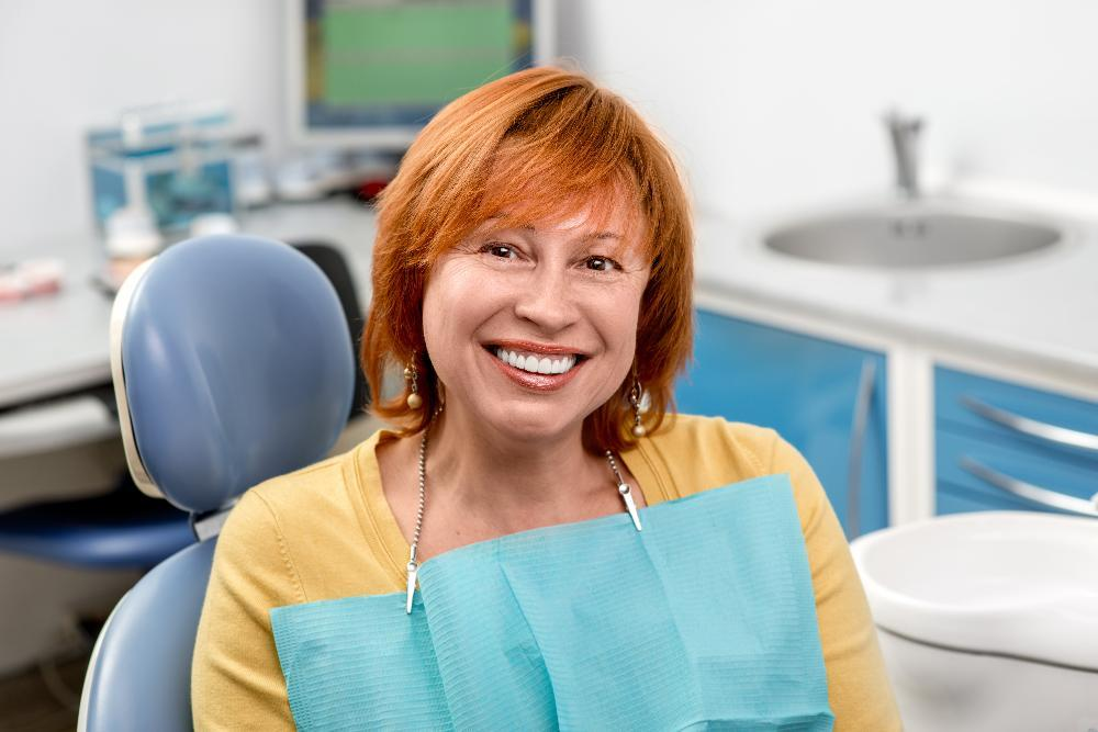 Woman getting root canal in Huntsville al